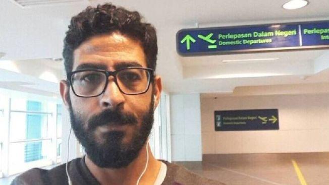 哈山滯留在吉隆坡機場逾月。(取材自推特)