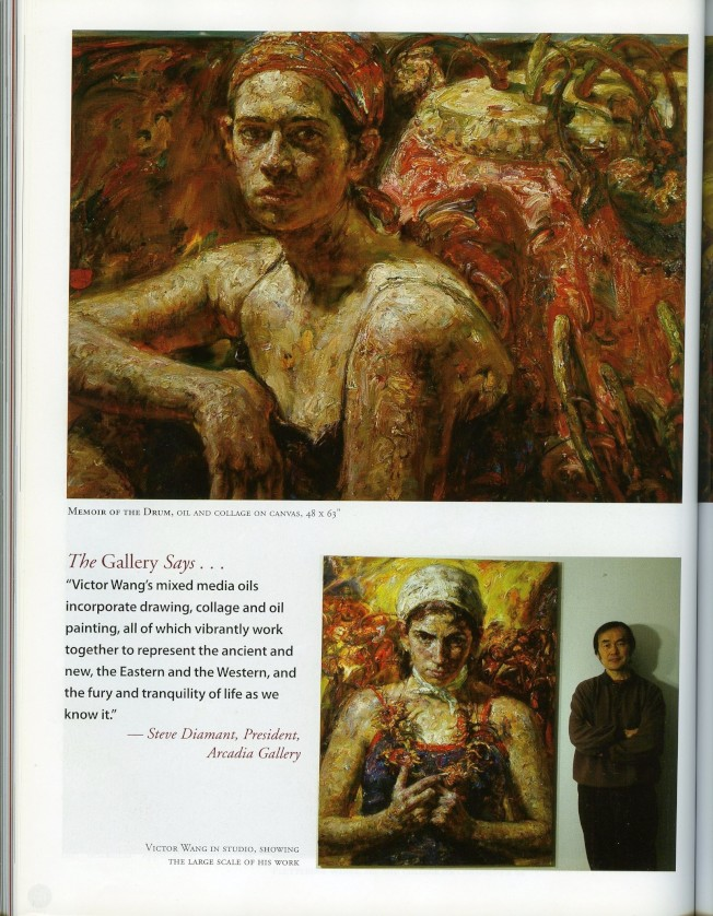 王勝的人物油畫被許多畫廊美術館收藏。(王勝提供)