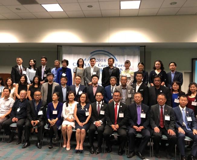 美國南加州中華高校校友會聯盟主辦的南加州職業發展論壇暨招聘會,15日在洛杉磯會展中心舉行。(記者張宏╱攝影)