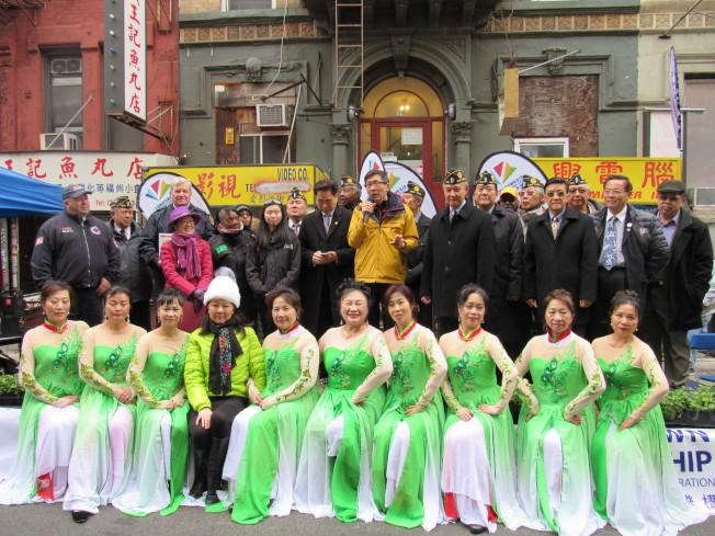 「華埠地球日」15日於曼哈頓華埠舉行。(記者顏嘉瑩/攝影)
