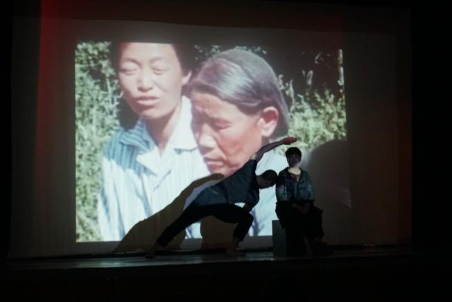 張慧望的作品靈感來自東歐與過去在北京學習舞蹈的十年之間。(記者林群/攝影)