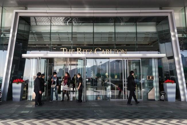 香港麗思卡爾頓酒店。 (歐新社)