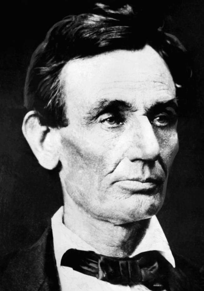 林肯1860年當選總統時的照片。(美聯社)