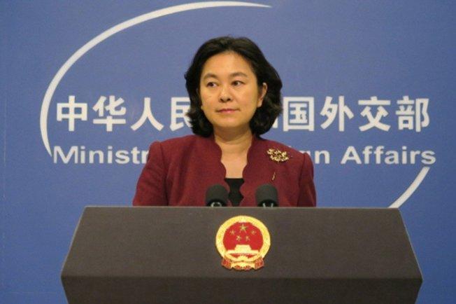 中國外交部發言人華春瑩。 中央社