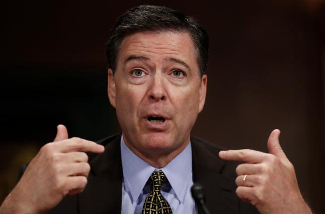 聯邦調查局前局長柯米15日接受專訪時表示,川普總統的智商很高,絕不可低估。(美聯社)