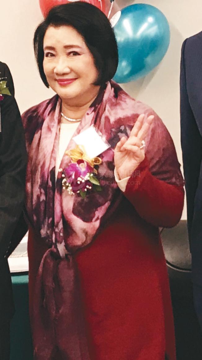 中國信託創辦人辜濂松的夫人辜林瑞慧女士也來參加盛典。(記者黃少華/攝影)