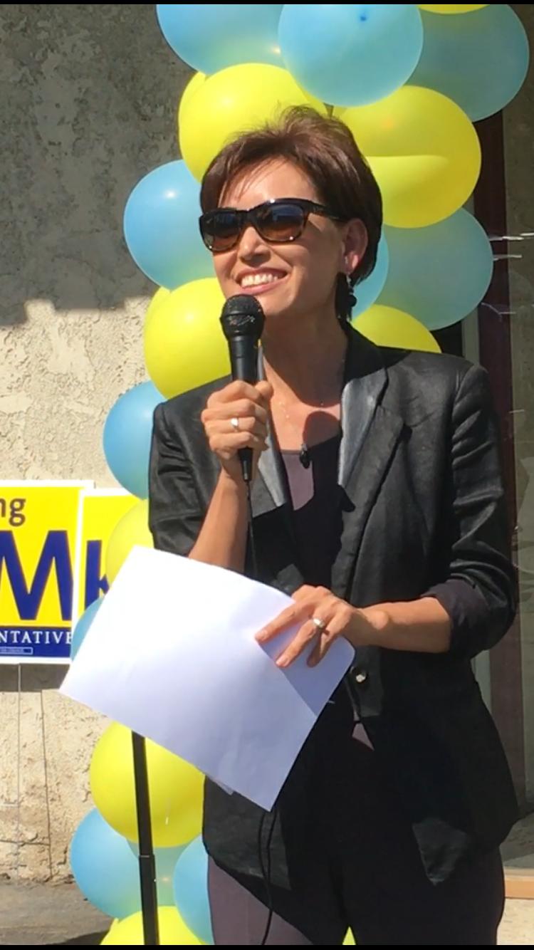 加州第39選區國會眾議員韓裔候選人金映玉。(記者謝雨珊/攝影)