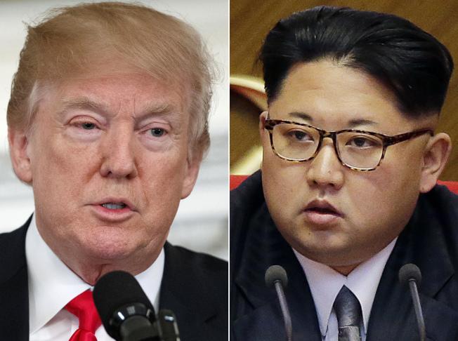 川普(左圖)攬功不害臊,又習慣不甩外交陳規,他與北韓領導人金正恩(右圖)的川金會會如何發展,國際矚目。(美聯社)