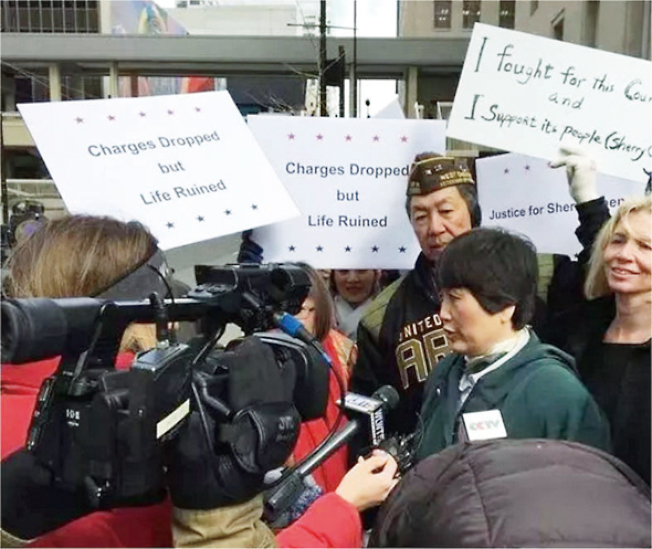 陳霞芬MSPB公開聽證會於2017年3月14日、15日在辛辛那提舉行。 (APAPA俄亥俄分部提供)
