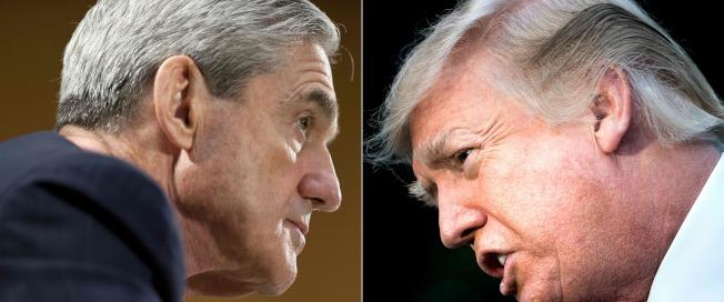 特別檢察官穆勒(左圖)的調查重點指向川普總統(右圖)是否妨礙司法,引起川普抨擊。(Getty Images)