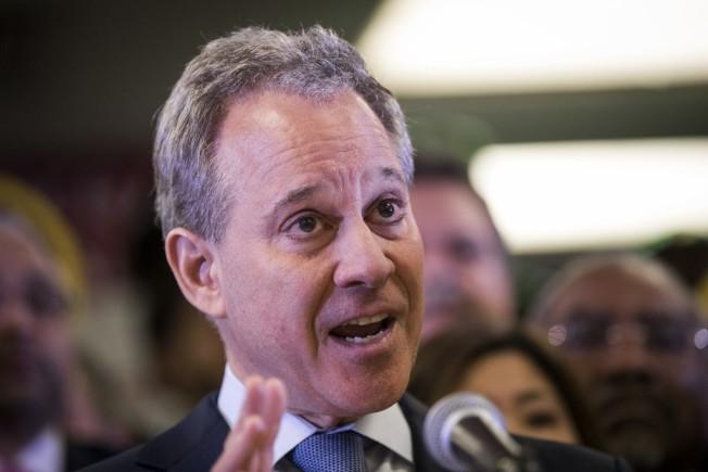 紐約州檢察長史樹德(Eric T. Schneiderman)遭控性攻擊四名女性。(Getty  Images)