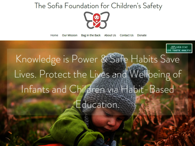 美國女科學家凱倫.歐索瑞爾成立「索菲亞兒童安全基金會」,提倡「後座包」運動,紀念去年被忘在汽車後座中暑致死的女兒索菲亞。擷自索菲亞兒童安全基金會