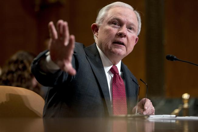 聯邦司法部長塞辛斯堅決反對大麻合法。(美聯社)