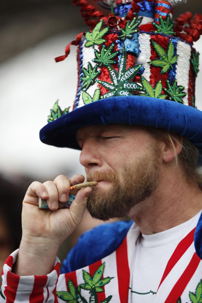 4月20日是大麻日,許多大麻愛好者舉辦慶祝活動。(美聯社)