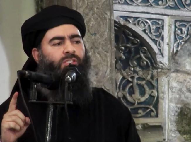 伊斯蘭國領導人巴格達迪。(美聯社)