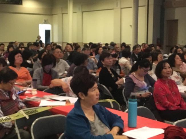 15日上午的台灣美食國際巡迴講座高朋滿座。(記者謝雨珊/攝影)