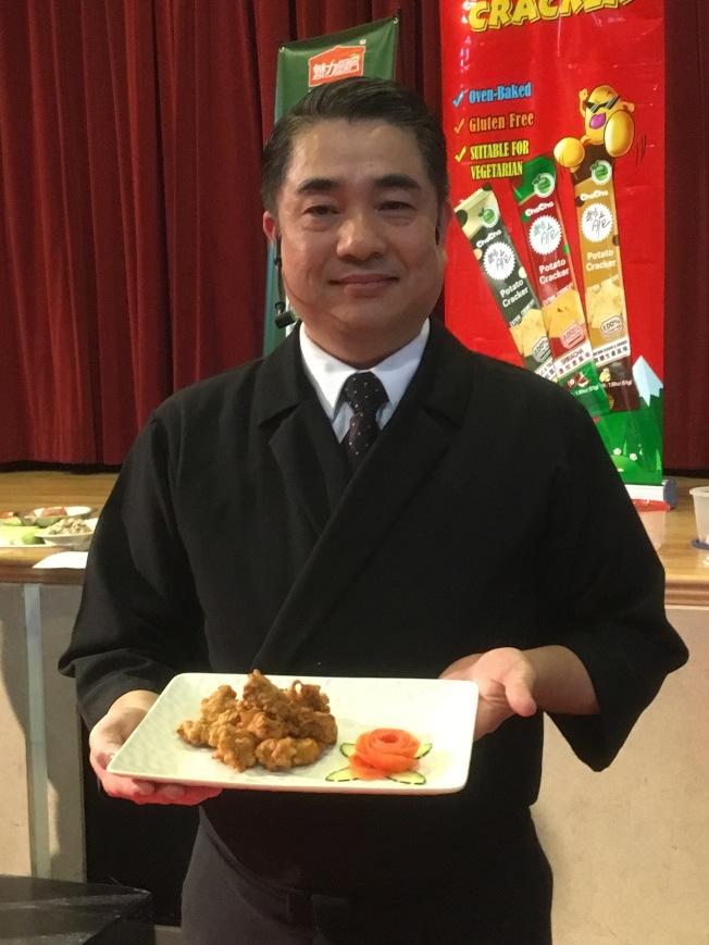 潘盟仁開發的新潮版鹹酥雞。(記者謝雨珊/攝影)