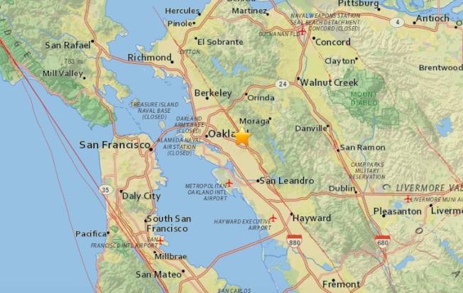 東灣周一晚上發生3.5規模的地震,震央位於屋崙以東兩哩的海沃斷層上。(圖:USGS)