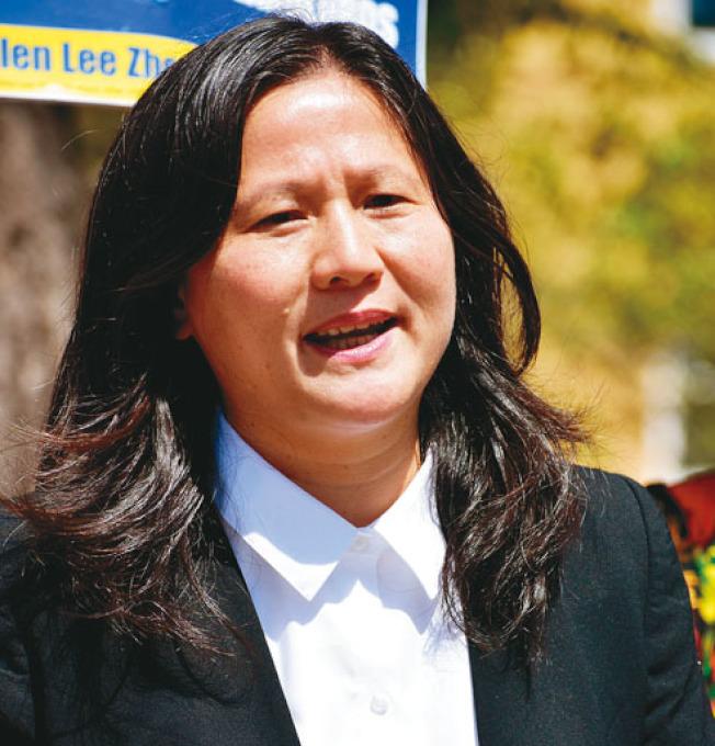 李愛晨身同感受,參加市長選舉備受歧視。(記者李秀蘭╱攝影)