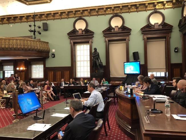 市議會就市社會服務局新財年預算舉行公聽會。(記者洪群超/攝影)