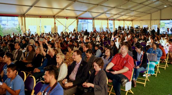 「構築未來」辯論會吸引大批民眾與會。(記者陳開/攝影)