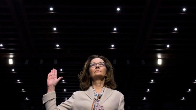 哈斯柏真除中情局局長任命案,交付參院全員投票。圖是哈斯柏9日在參院情委會的任命聽證。(路透)