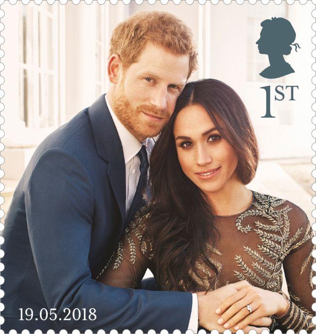 英國為哈利王子大婚,推出紀念郵票。(Getty Images)