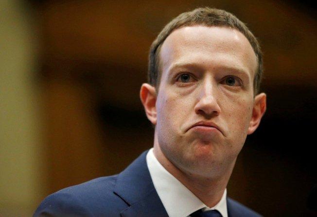 臉書執行長查克柏格(Mark Zuckerberg)。路透