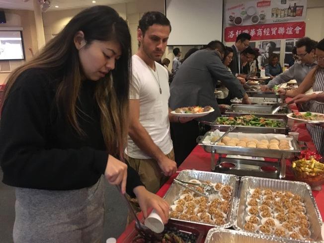 「台灣美食國際巡迴講座」設宴款待主流人士。(記者謝雨珊/攝影)
