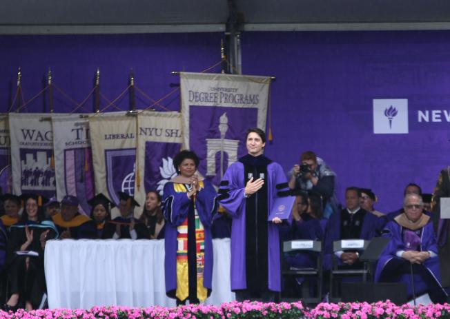 杜魯多獲榮譽博士學位。(記者洪群超/攝影)