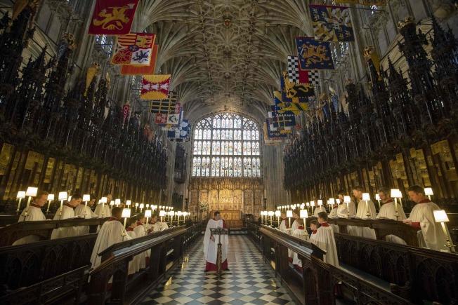 英國哈利王子與梅根馬克爾19日將在溫莎城堡的聖喬治禮拜堂互許終身。Getty Images