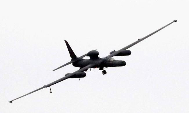參加美軍與南韓「超級雷霆」聯合演習的U-2間諜機。(美聯社)