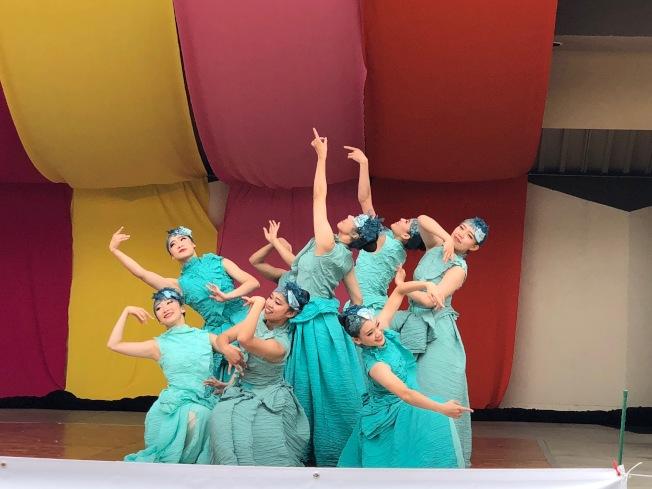 台灣體育運動大學舞蹈團隊表演「點亮台灣」,全場掌聲雷動。(主辦方提供)