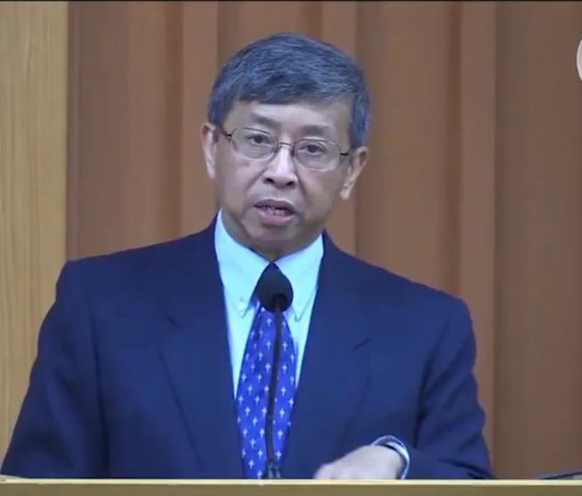 灣區華人基督教領袖林修榮背書李愛晨參選市長。(李愛晨提供)