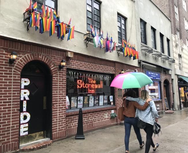 揭開同性戀平權運動序幕的石牆暴動發生在西村的同性戀酒吧「石牆酒吧」。(記者劉大琪/攝影)
