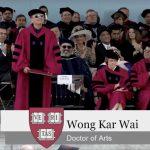 名導王家衛獲哈佛榮譽藝術博士學位