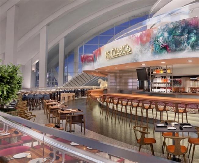 在LAX國際航廈新開的中式餐廳P.F. Changs。(LAX提供)