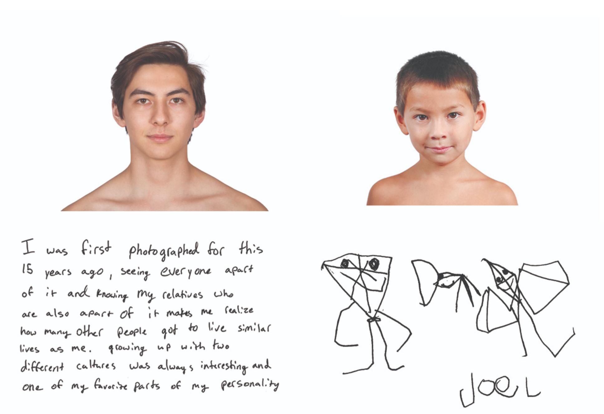 華裔混血攝影師陳小龍歷時近18年,拍照片記錄混血華裔外貌改變。圖為Kip Fulbeck的作品。(Kip Fulbeck提供)