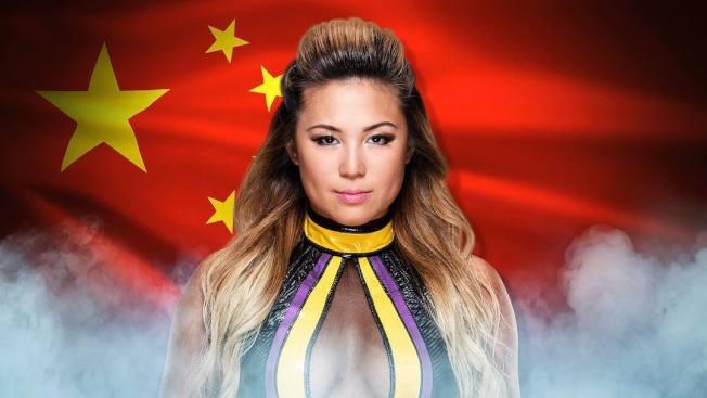 何奕萱成為第一位簽約WWE的美籍華裔女摔角手。(WWE官方宣傳圖)