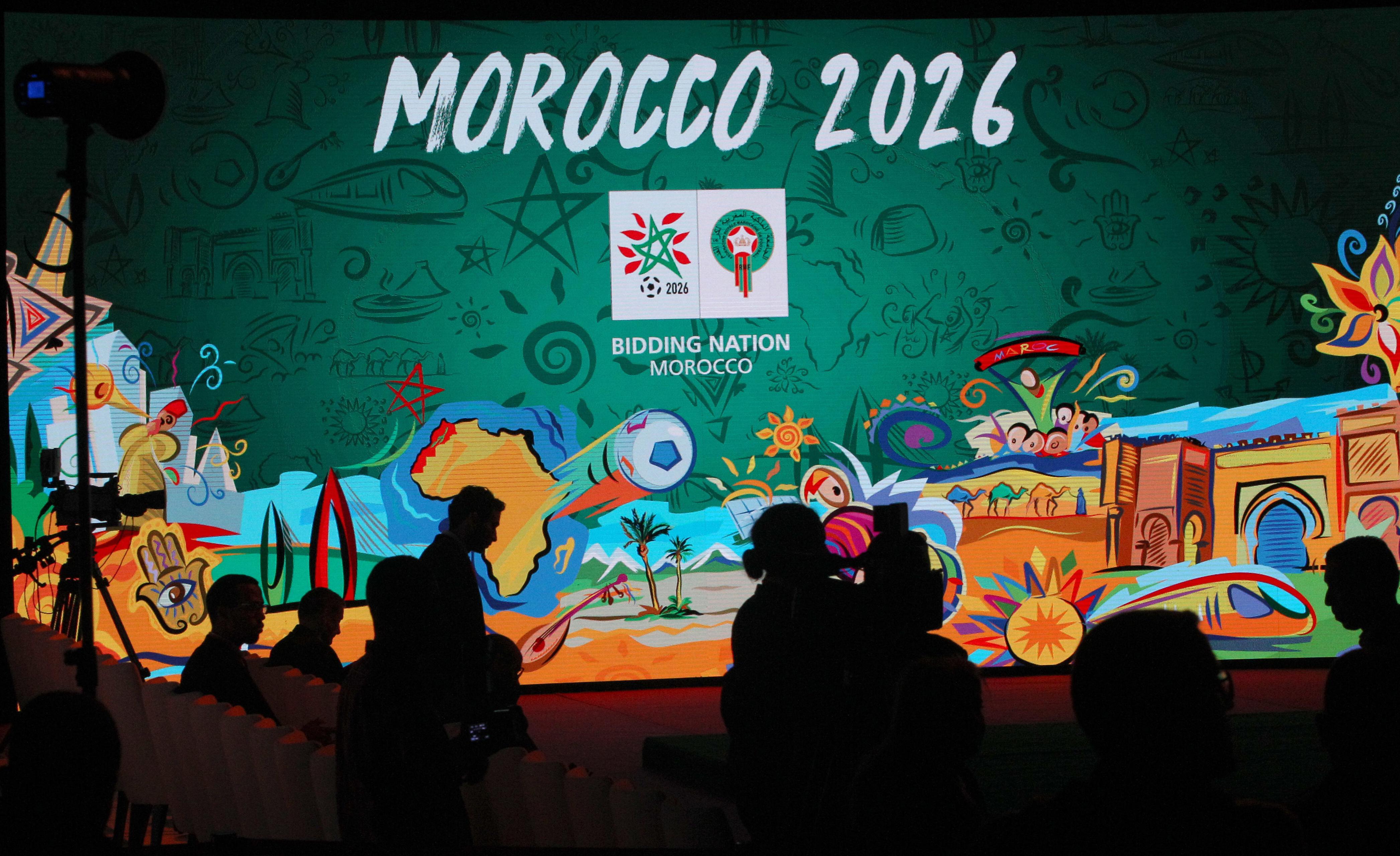 摩洛哥第5度申辦世足會內賽,依舊鎩羽而歸。(美聯社)