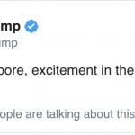 不斷更新  川普一覺醒來首推:新加坡真棒 氣氛好興奮