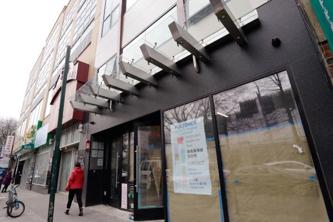 40路135-15號商住綜合樓一樓美食廣場6月開幕。(記者朱澤人/攝影)