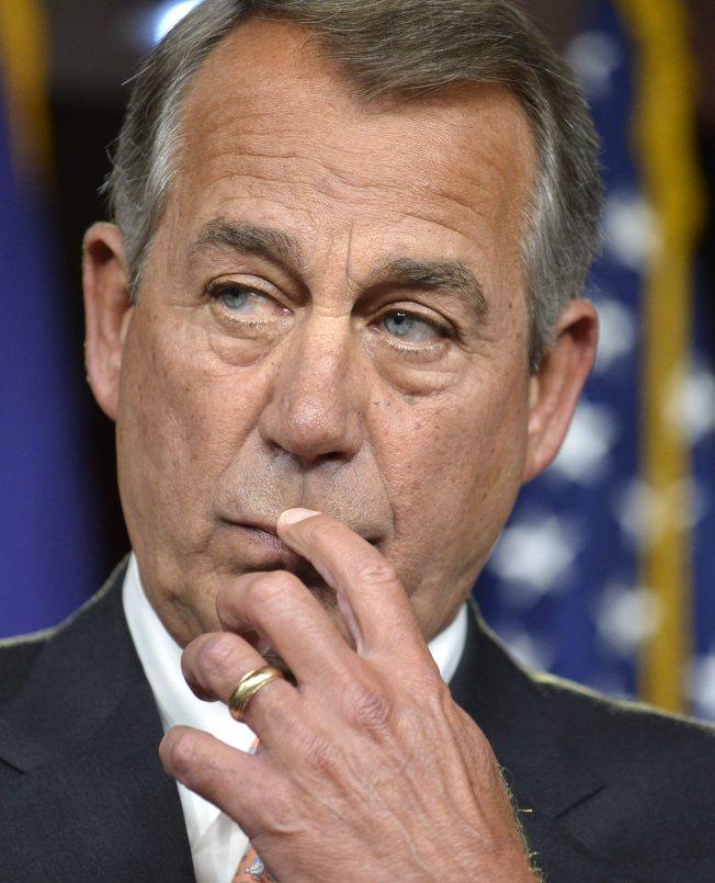 國會眾院前議長貝納說,共和黨已不存在,只剩下川普黨。(歐新社)