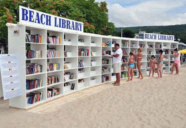 沙灘圖書館。(取材自Knowledgeable Ideas!)