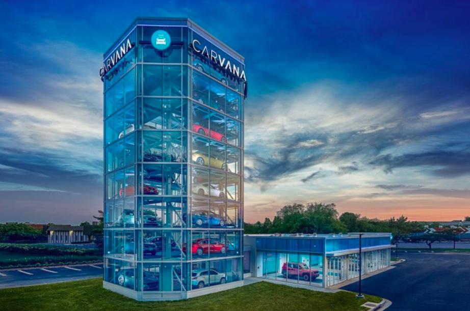 馬州蓋城迎來第一座賣汽車的自動販賣機。(Carvana官方圖)