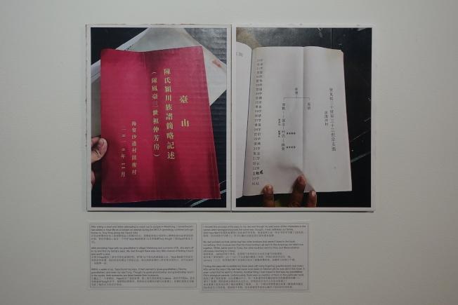 陳加華的家譜。(記者金春香/攝影)