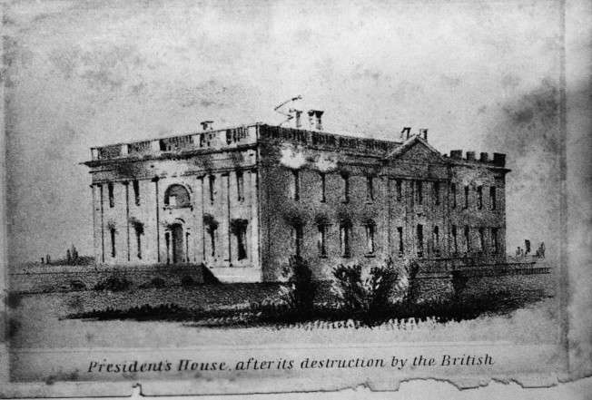 1812年英軍攻進華府,燒毀當時的白宮。(美聯社)