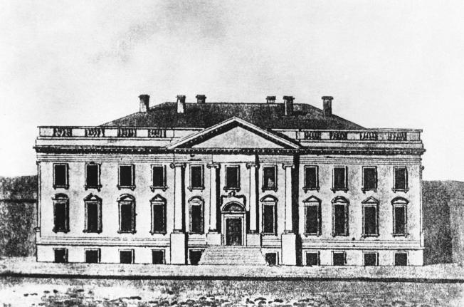 這是被焚毀的白宮傳世的唯一圖像。(美聯社)
