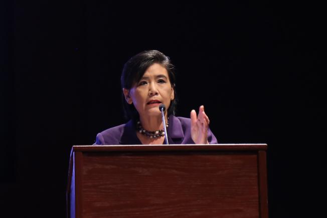 不平則鳴,趙美心除了在國會反映華人社區不滿,也鼓勵華人透過參政發聲。(本報檔案照)