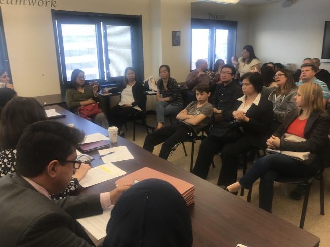 第20學區教育委員7日通過決議,將反對廢除SHSAT。(記者牟蘭╱攝影)